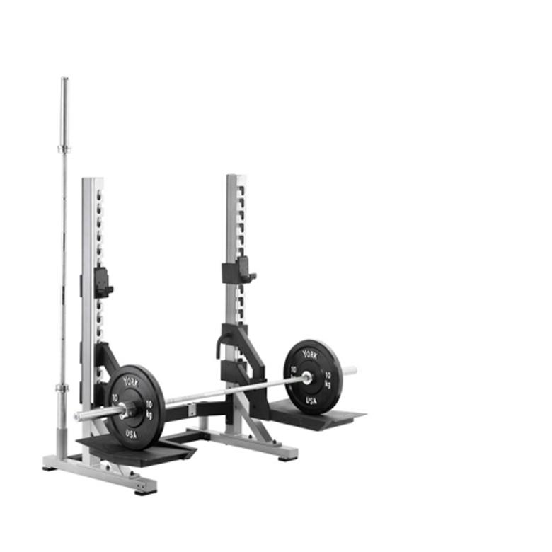 York Sts College Rack With Bar Storage Gym Equipment